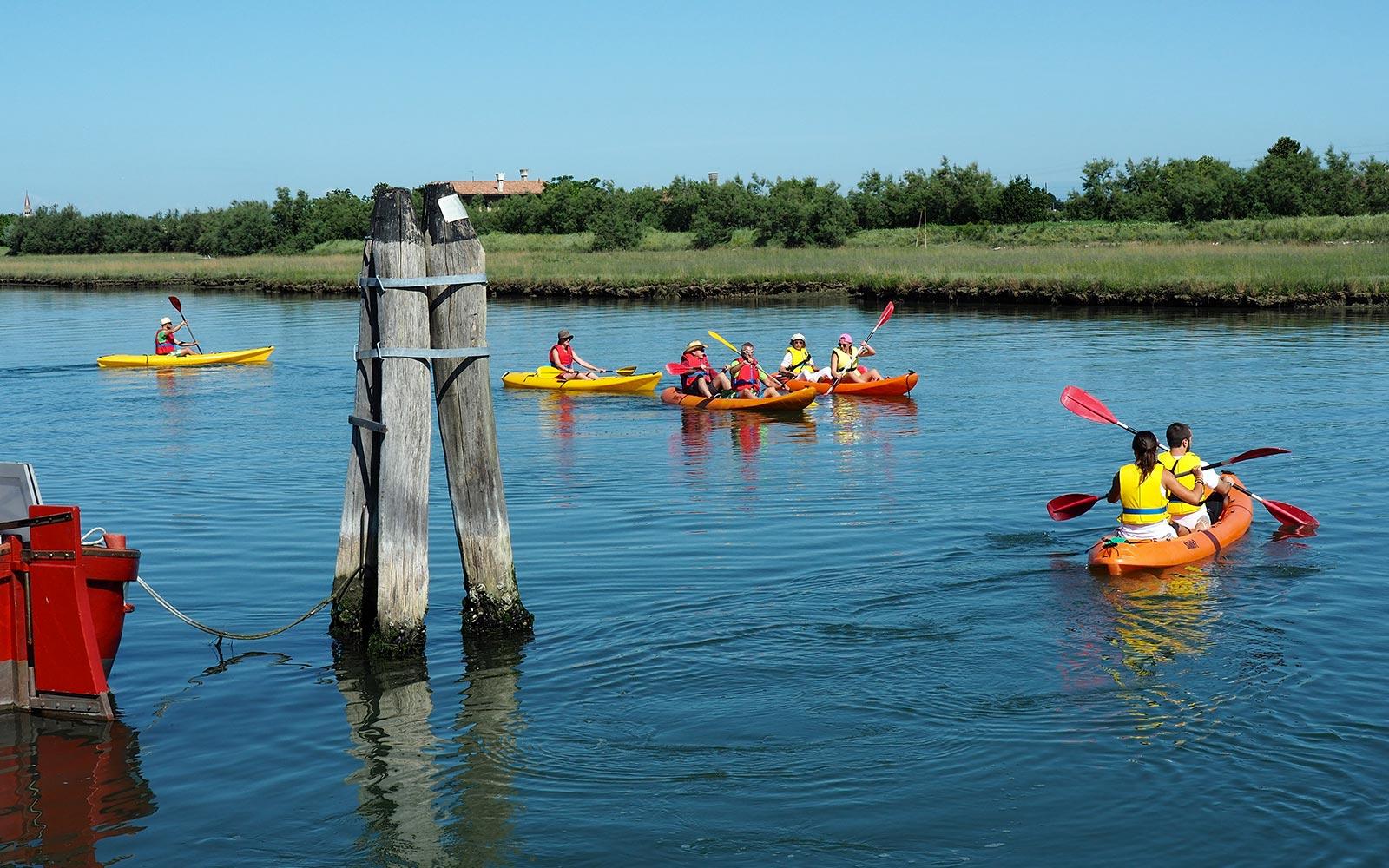 8 Kanufahrt in der Lagune von Venedig aus Cavallino - Jesolo