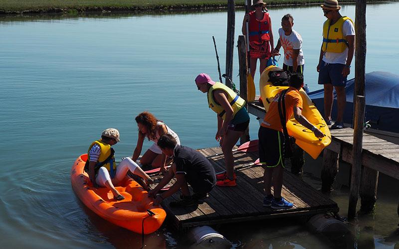 Kanufahren in der Lagune von Venedig