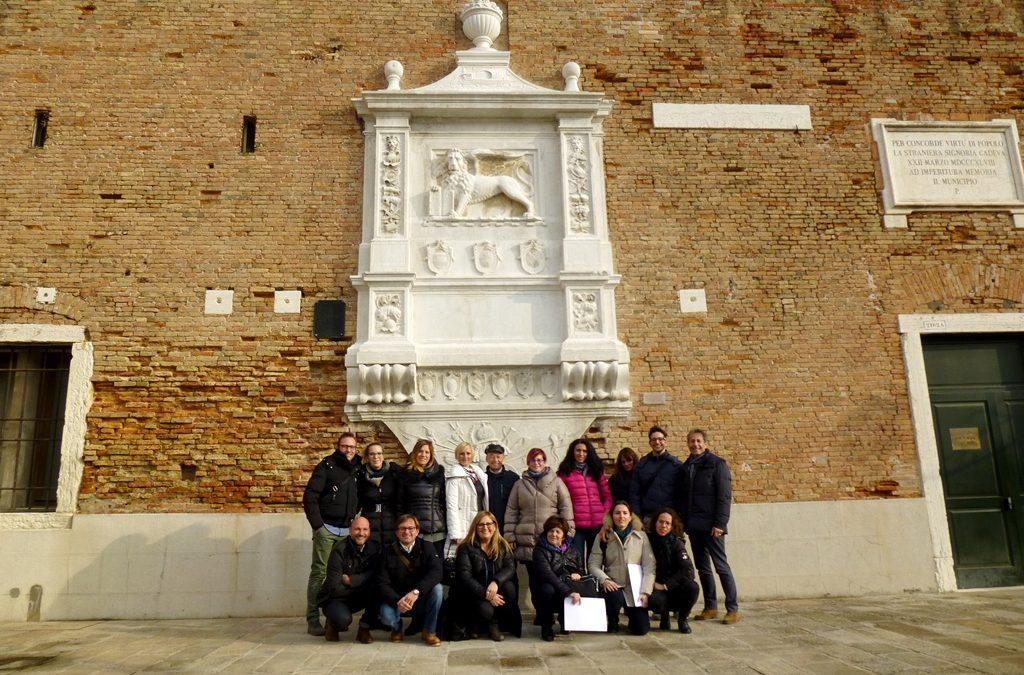 Fertigstellung der Restaurierungs arbeiten des Löwen des Arsenals Von Venedig